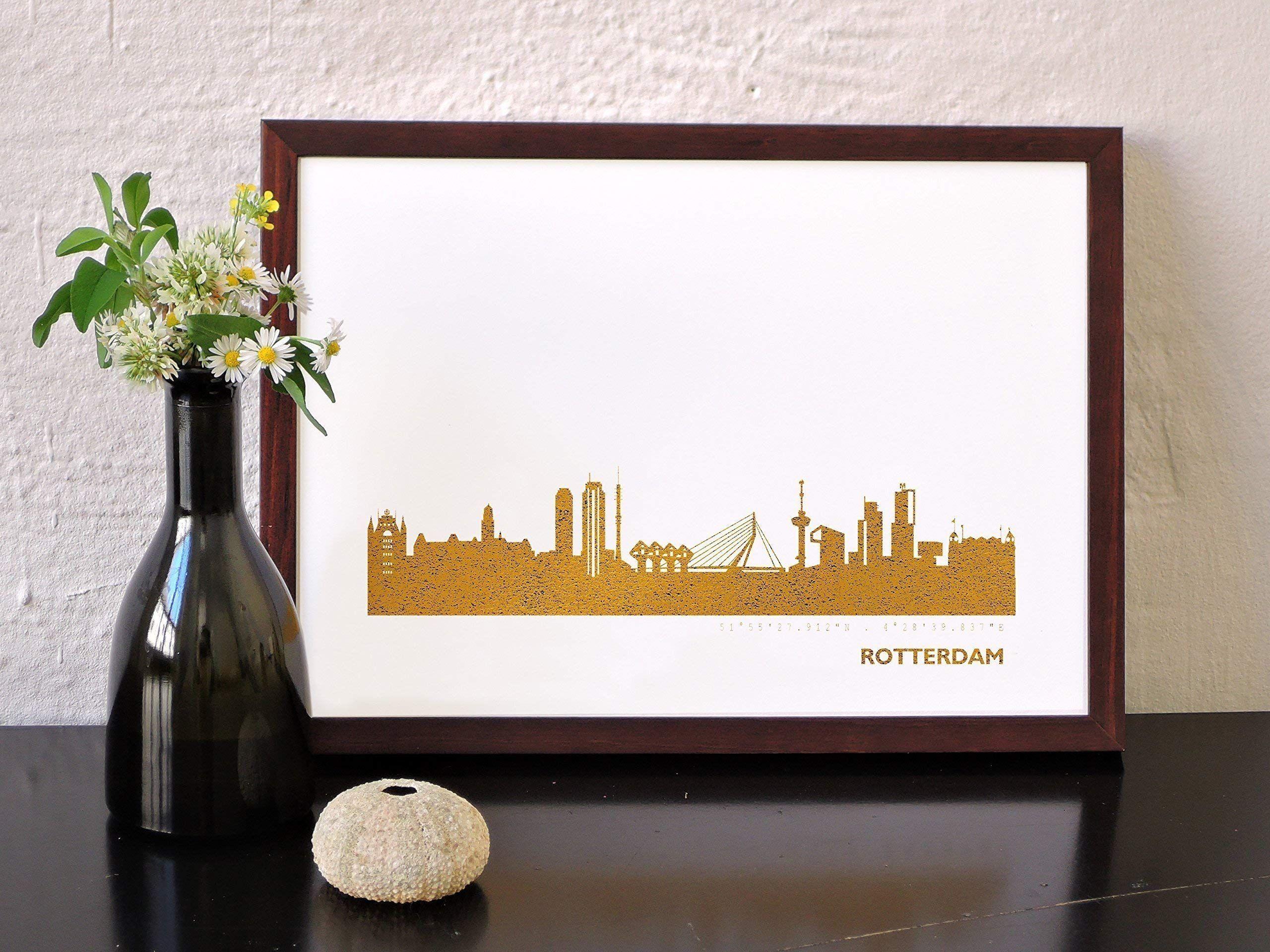 Rotterdam Kunstdruck In Kupfer Gold Silber Rosegold 2 Gr