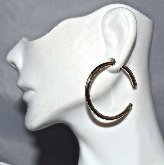 Gold 10 Gauge Hoop Earrings Gauged Earrings Hoop Earrings Earrings