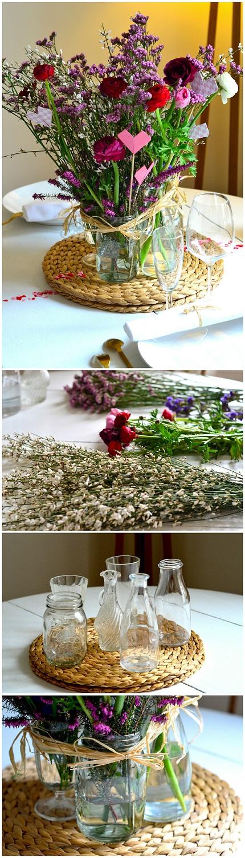 r aliser une composition florale r cup rer des bocaux. Black Bedroom Furniture Sets. Home Design Ideas
