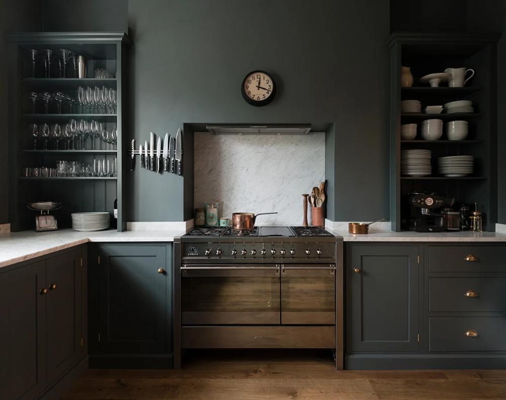 Olive Green Kitchen Trend in 2020 Dark green kitchen