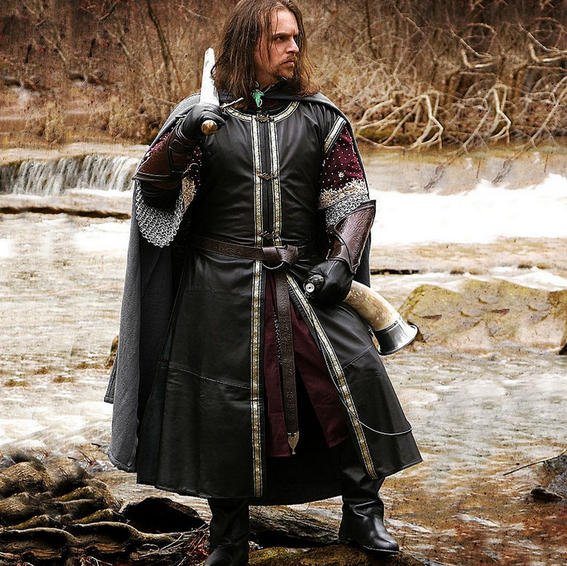 Lord Of The Rings Boromir Leather Surcoat Medieval