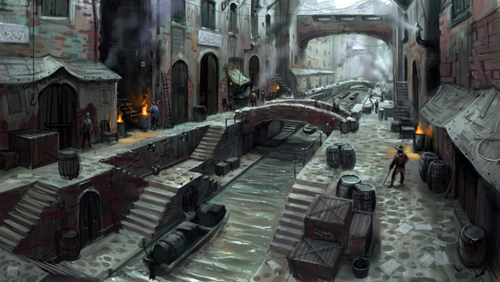 Fable 3. Bowerstone Industrial concept art.
