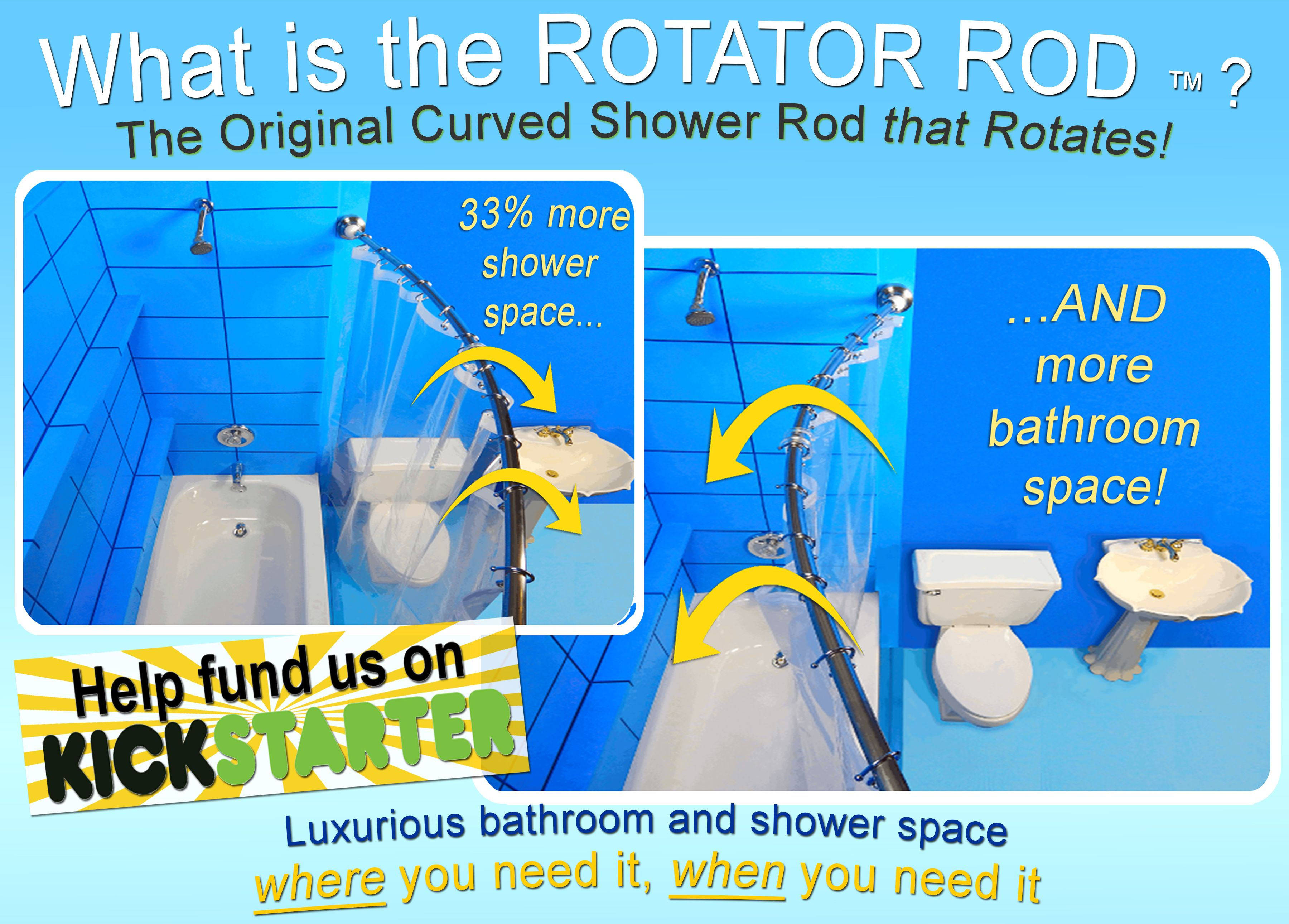 The Curved Shower Rod Solved Half The Problem Now The Rotator Rod Solved The Rest I Woke Up One Morning In A Bad Mood My Dail With Images Shower Rod