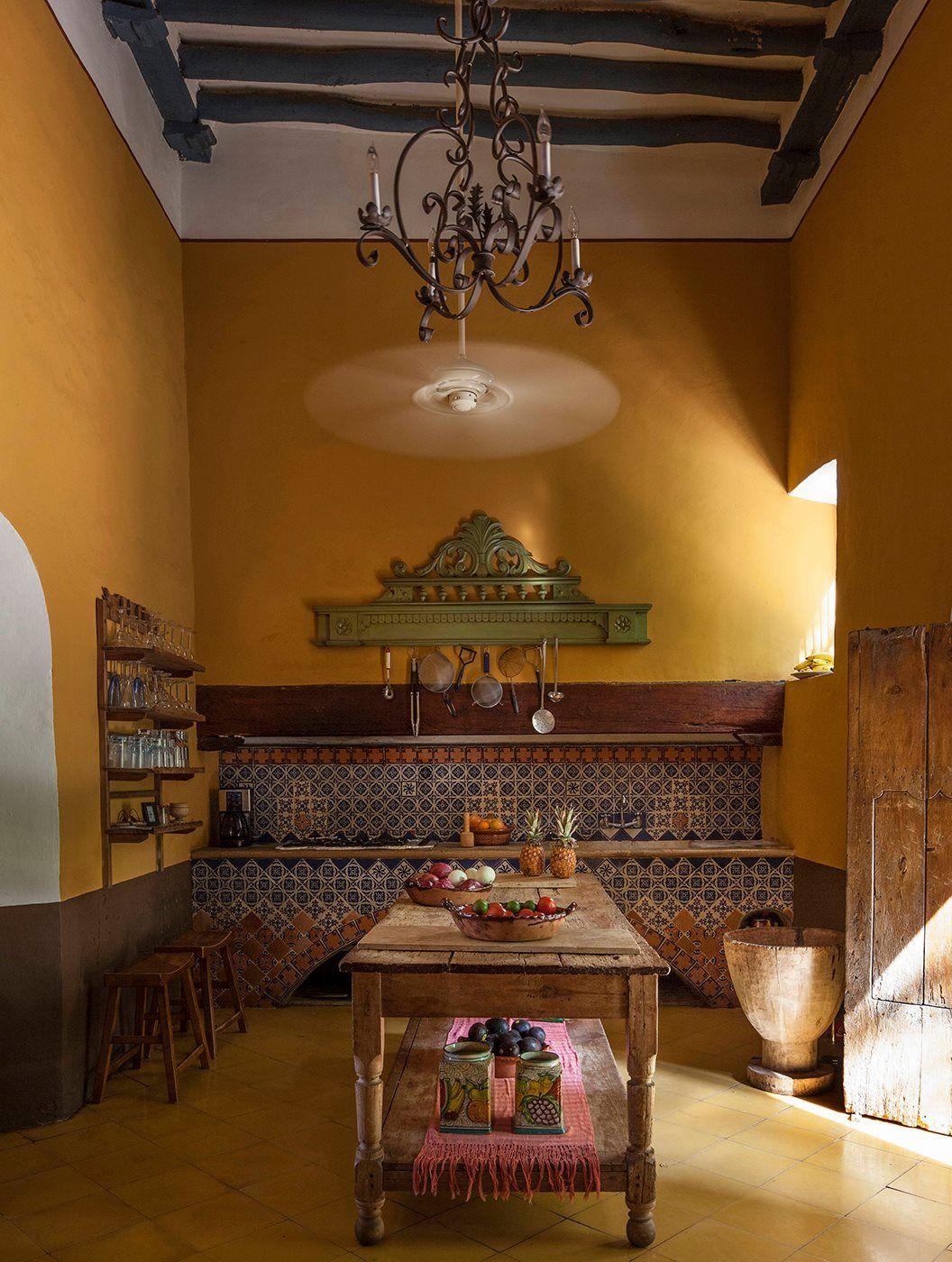 Cocina Tradicional En Hacienda Yucateca Muebles Rusticos De  # Muebles Mexicanos Rusticos
