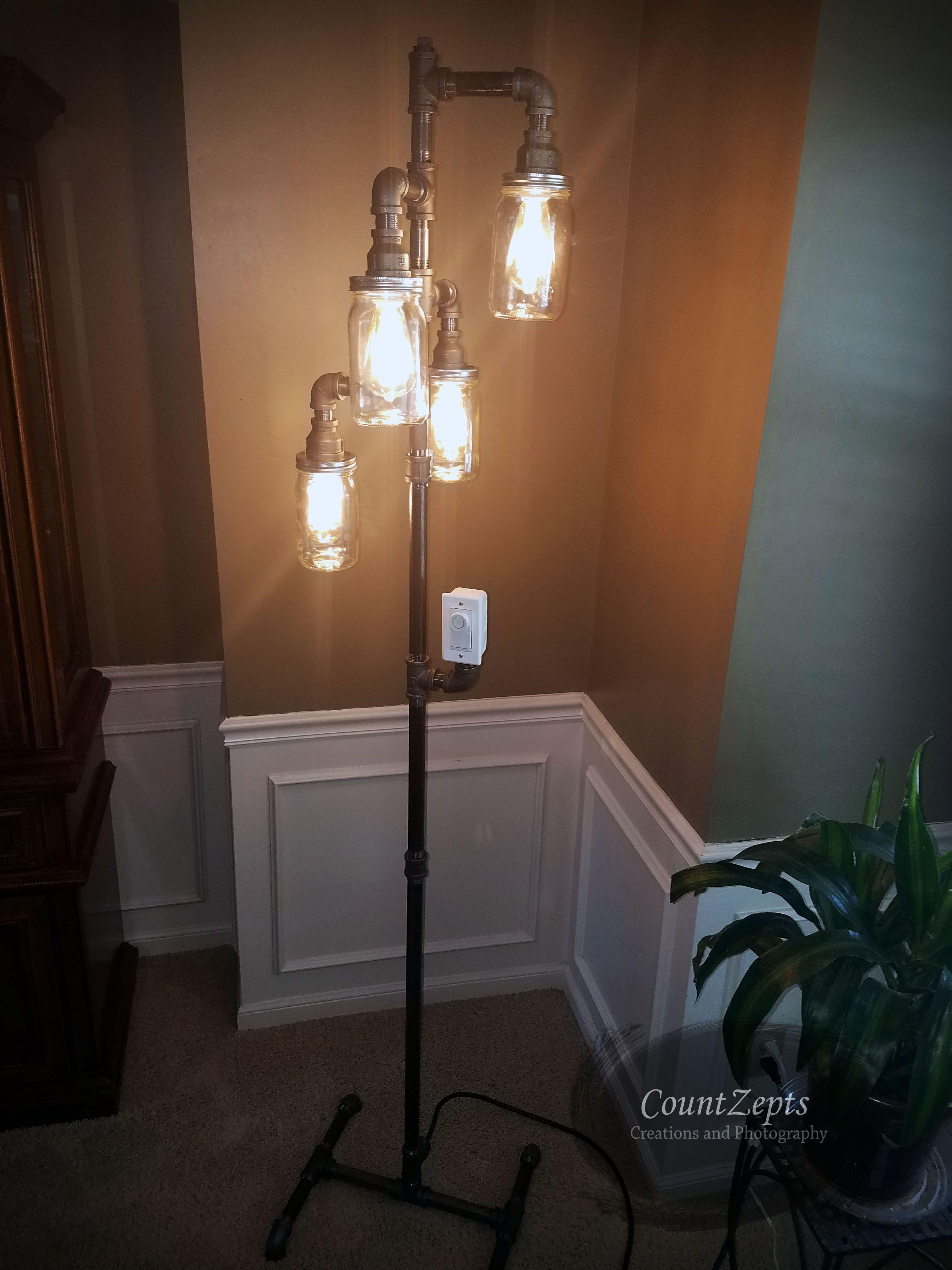 Edison Style Floor Lamp With Dimmer Switch Elegant Stylish