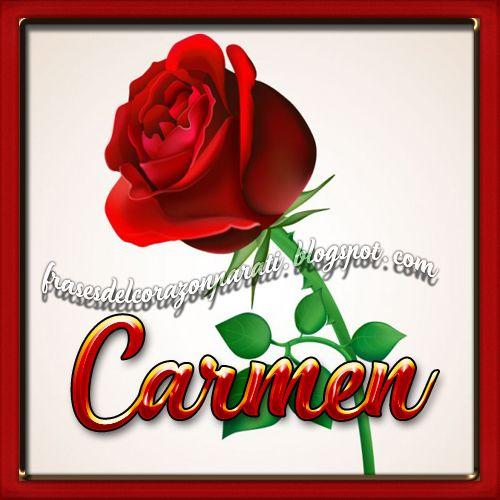 Frases Para Tu Corazón Bella Rosa Con Nombre De Mujerver
