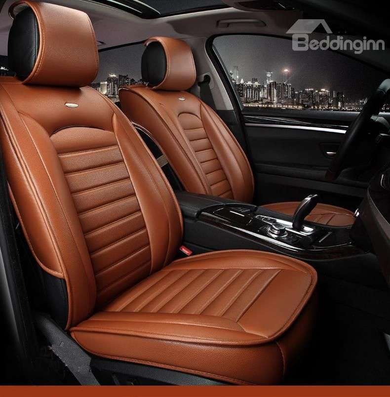Luxurious Business Style Classic Design Leather Universal Car Seat Cover Leather Car Seat Covers Car Seats Luxury Car Interior
