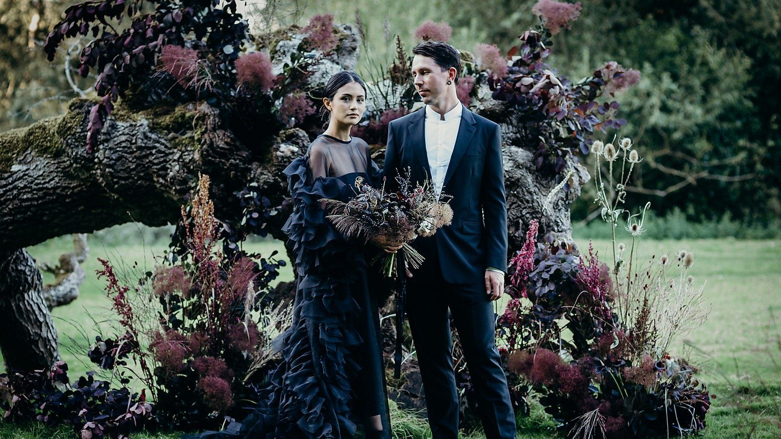 The Bride Wore Black at This Wedding in the Wilds of Wales