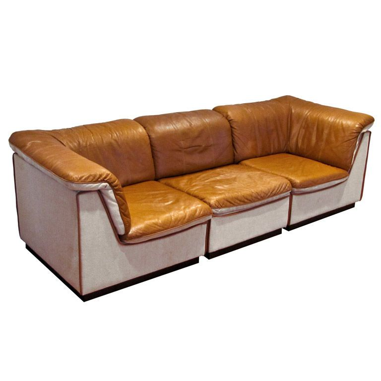 Finnish 1970s Leather Sofa