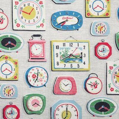 New Cath Kidston Clocks Pattern Cath Kidston Fabric