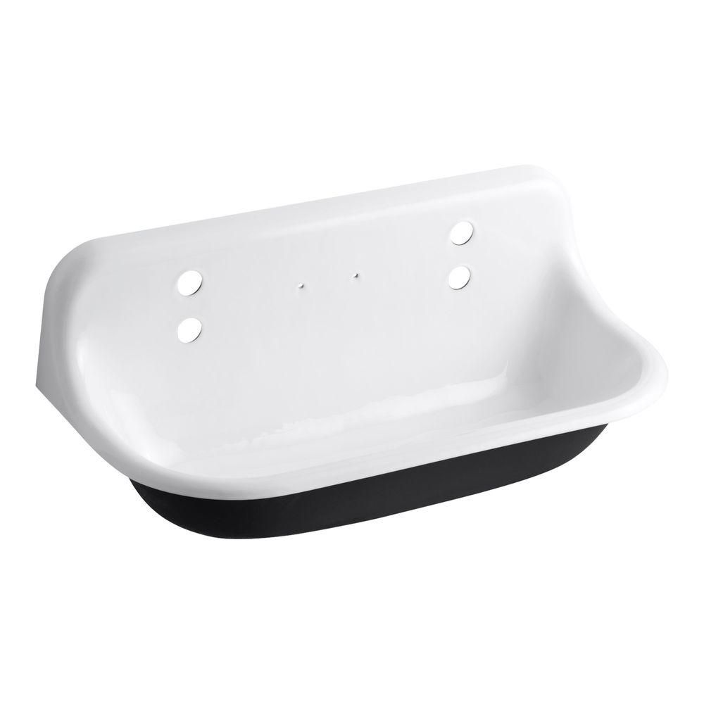 White cast iron apron sink - Cast Iron Wall Mount Wash Sink In