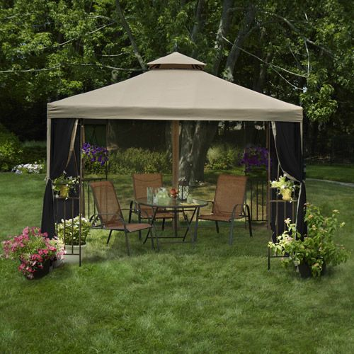 find this pin and more on outdoor rooms mainstays laketon patio gazebo - Gazebo Patio Ideas