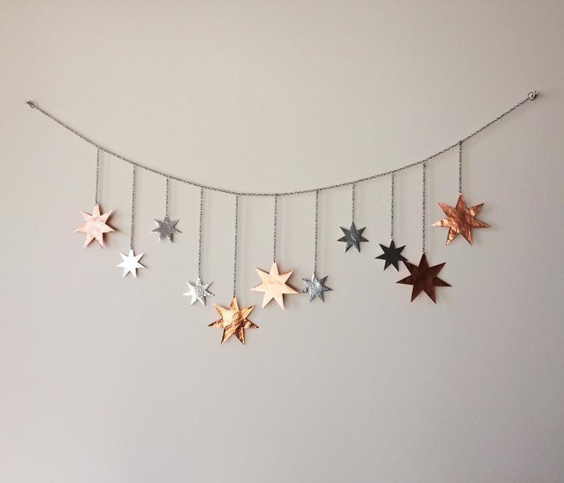 Stars Wall Decor Hanging Br Art
