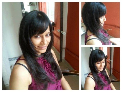 Cute Feather Cut With Fringe For Indian Face Indian Hairstyles