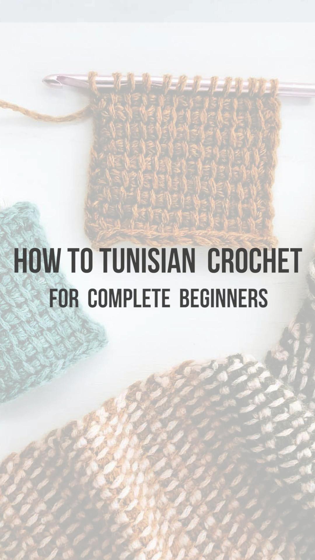 Video tutorial de crochet tunecino para principiantes: todo lo que necesita saber para comenzar