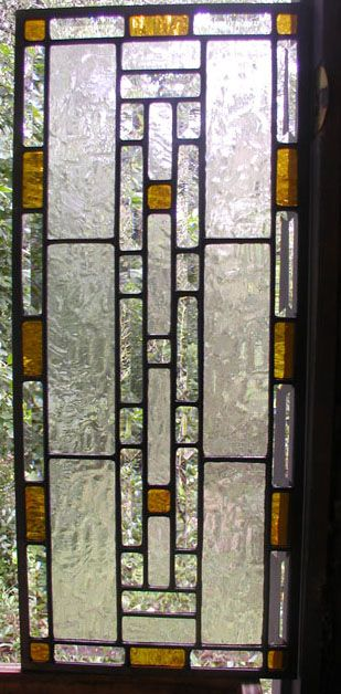 Geometric Leaded Glass Cabnet Door Panel For Front Door