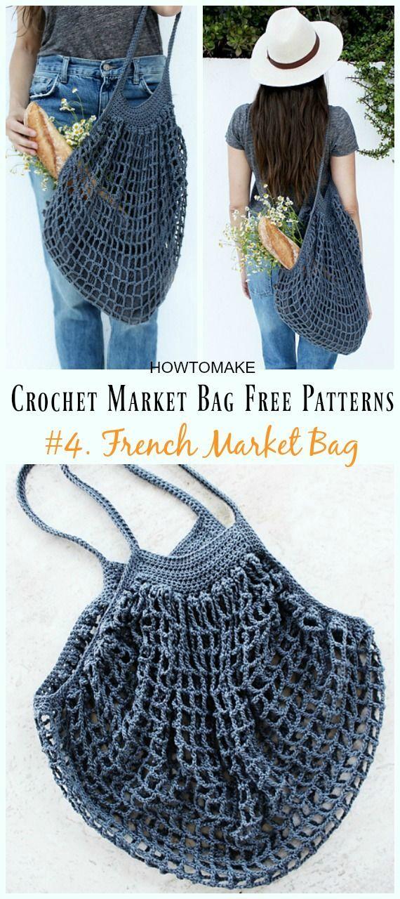 Tendance Sac 2017 2018 French Market Bag Crochet Free Pattern