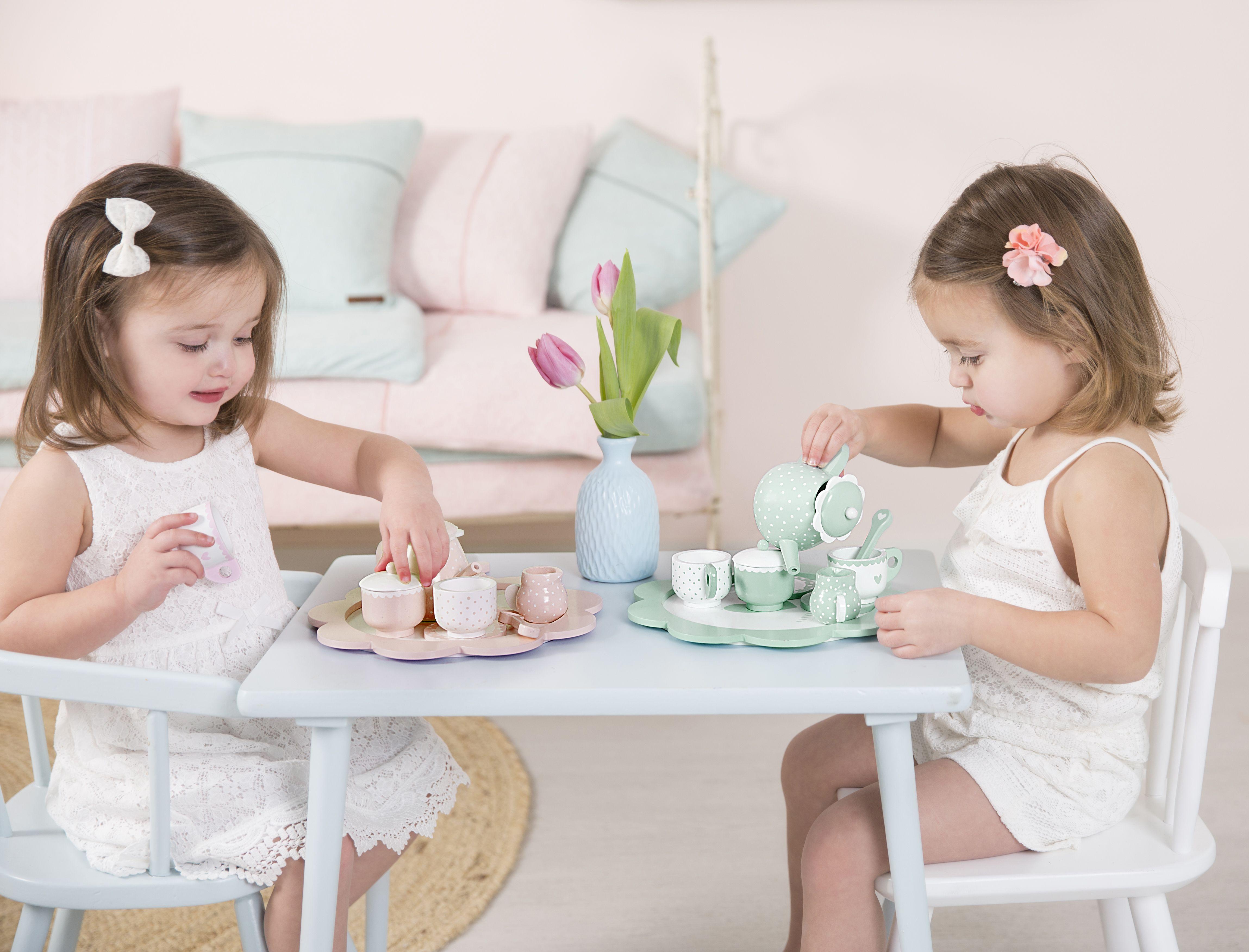 Holz Tee Set pink | Stofftiger Jetzt Holzspielzeug kaufen
