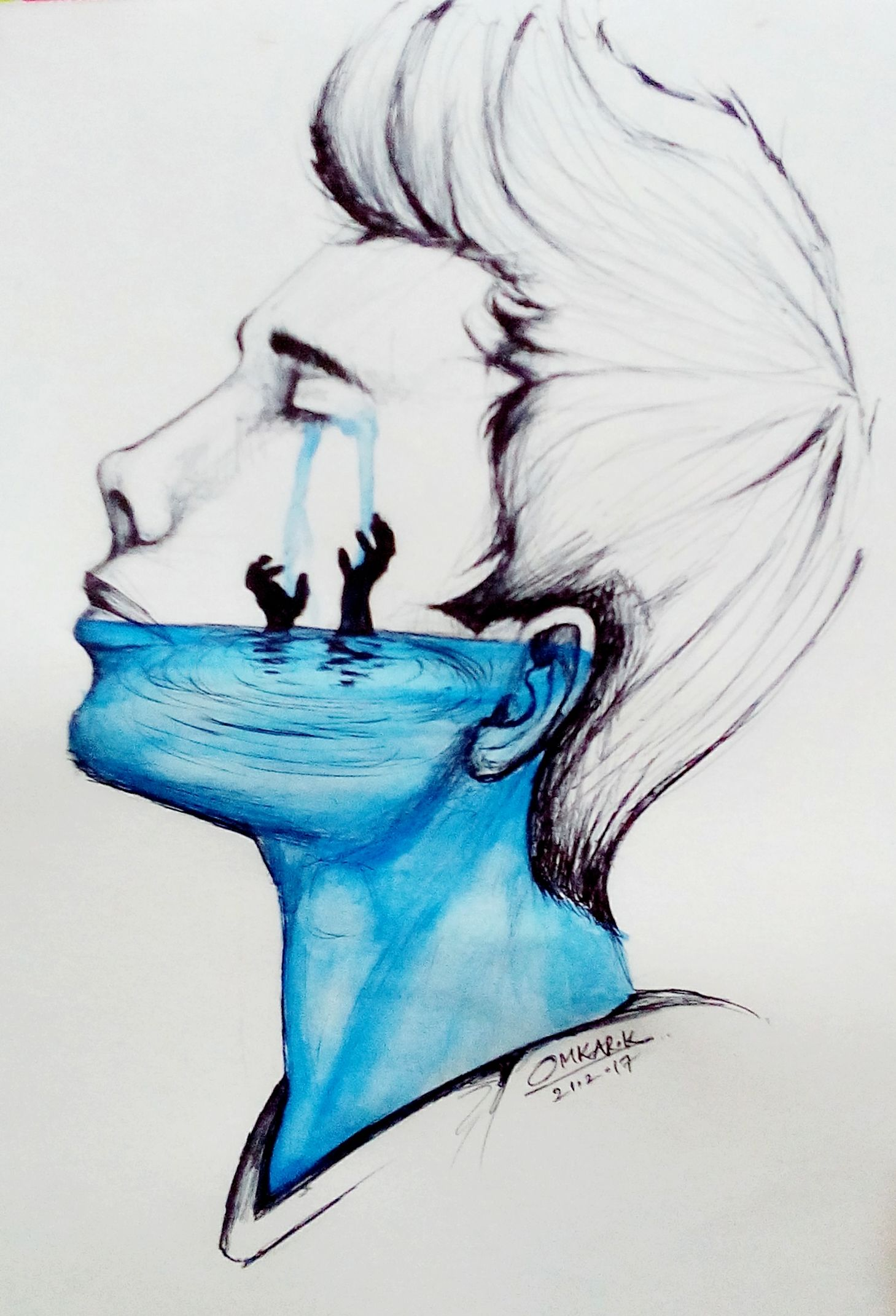 Emotional Deep Drawings : emotional, drawings, Paintings, Sketches, Omkar, Khochare
