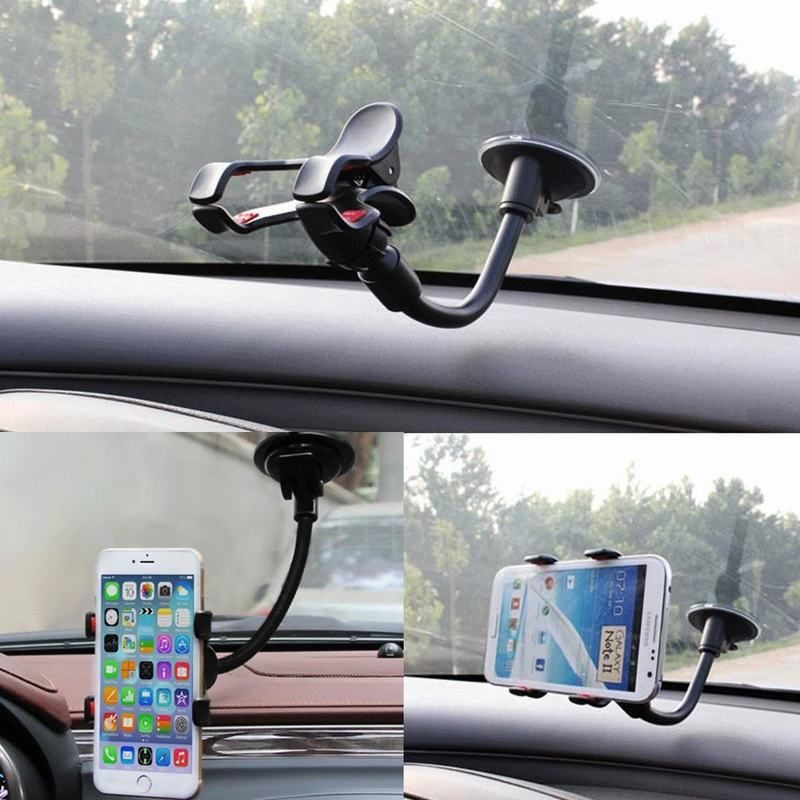 Universal Car Rearview Mirror Clip Mount Cell Phone Holder Bracket Stand Cradle