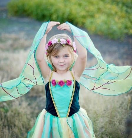 8996aab6bde4 green and pink fairy blossom dress - Dilly Dally Kids. Float through ...