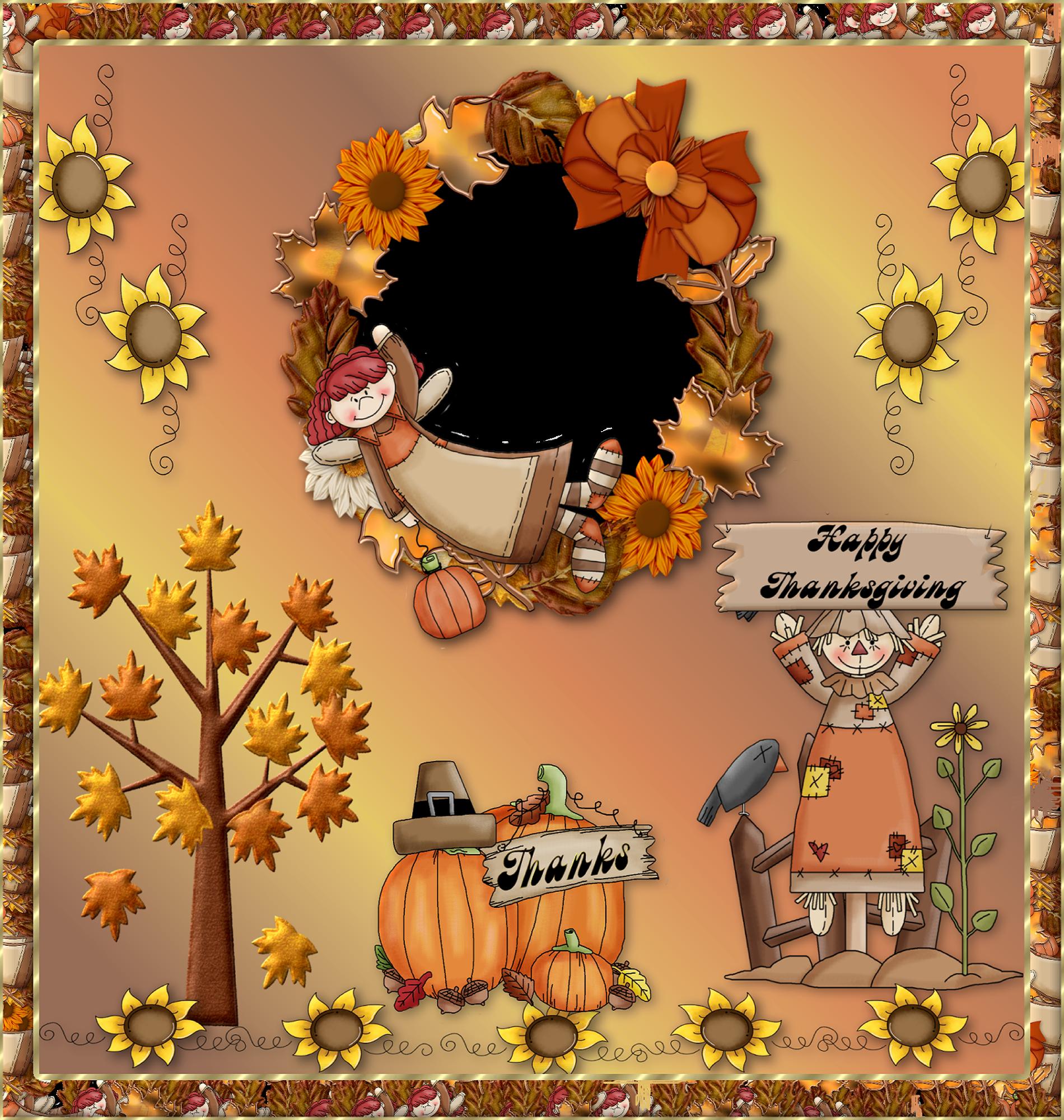 Happy Thanksgiving PNG Photo Frame | Thanksgiving | Pinterest ...