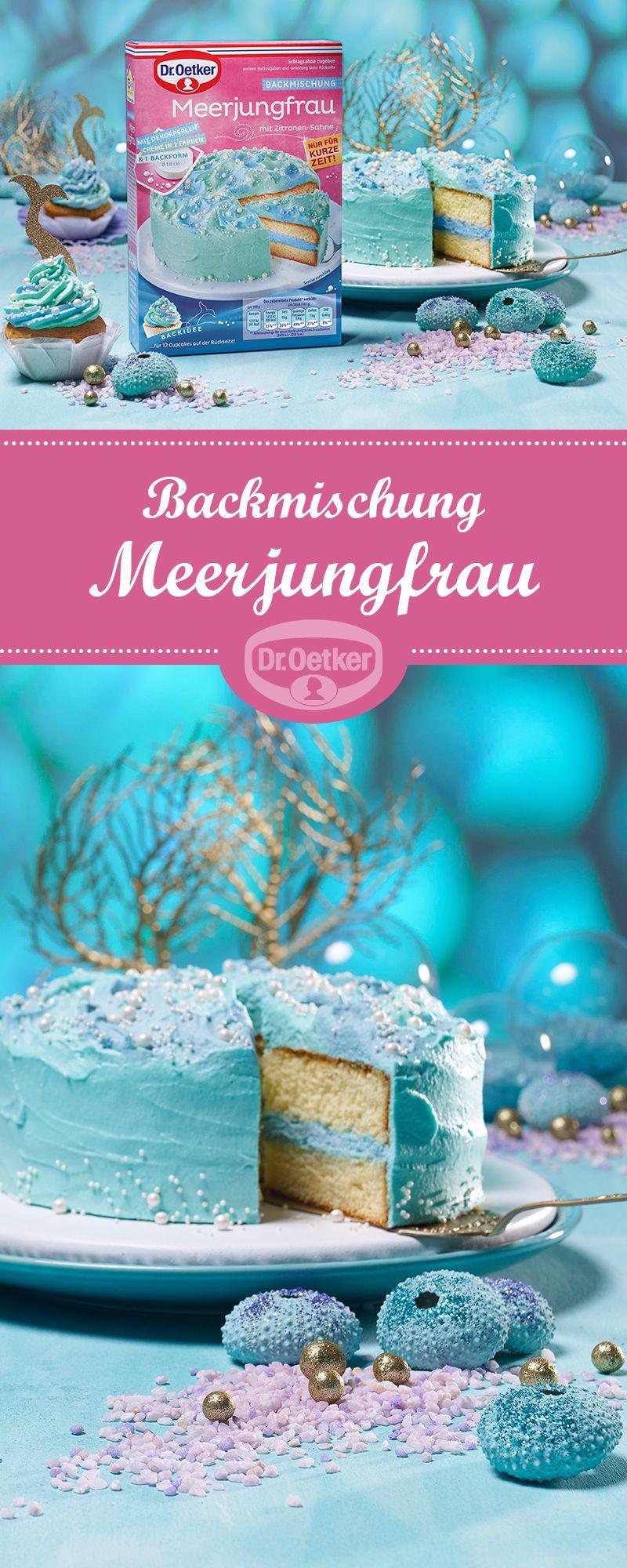 Dr. Oetker Backmischung Meerjungfrau #Meerjungfrau #Kuchen ...