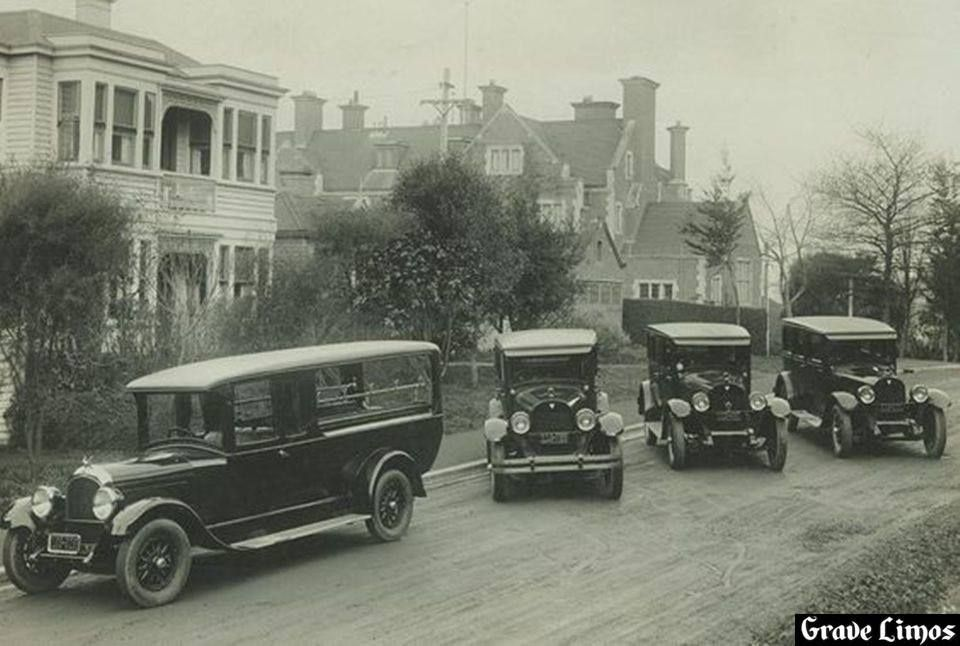 1926 Chrysler hearse. With 3 mid '20s Hudsons. Hope and