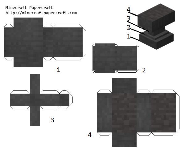 minecraft anvil cubee printables papercraft printables