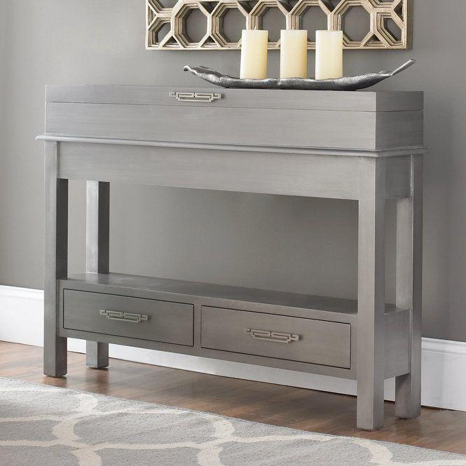 Sleek Narrow Storage Console Narrow Sofa Table Sofa Table With