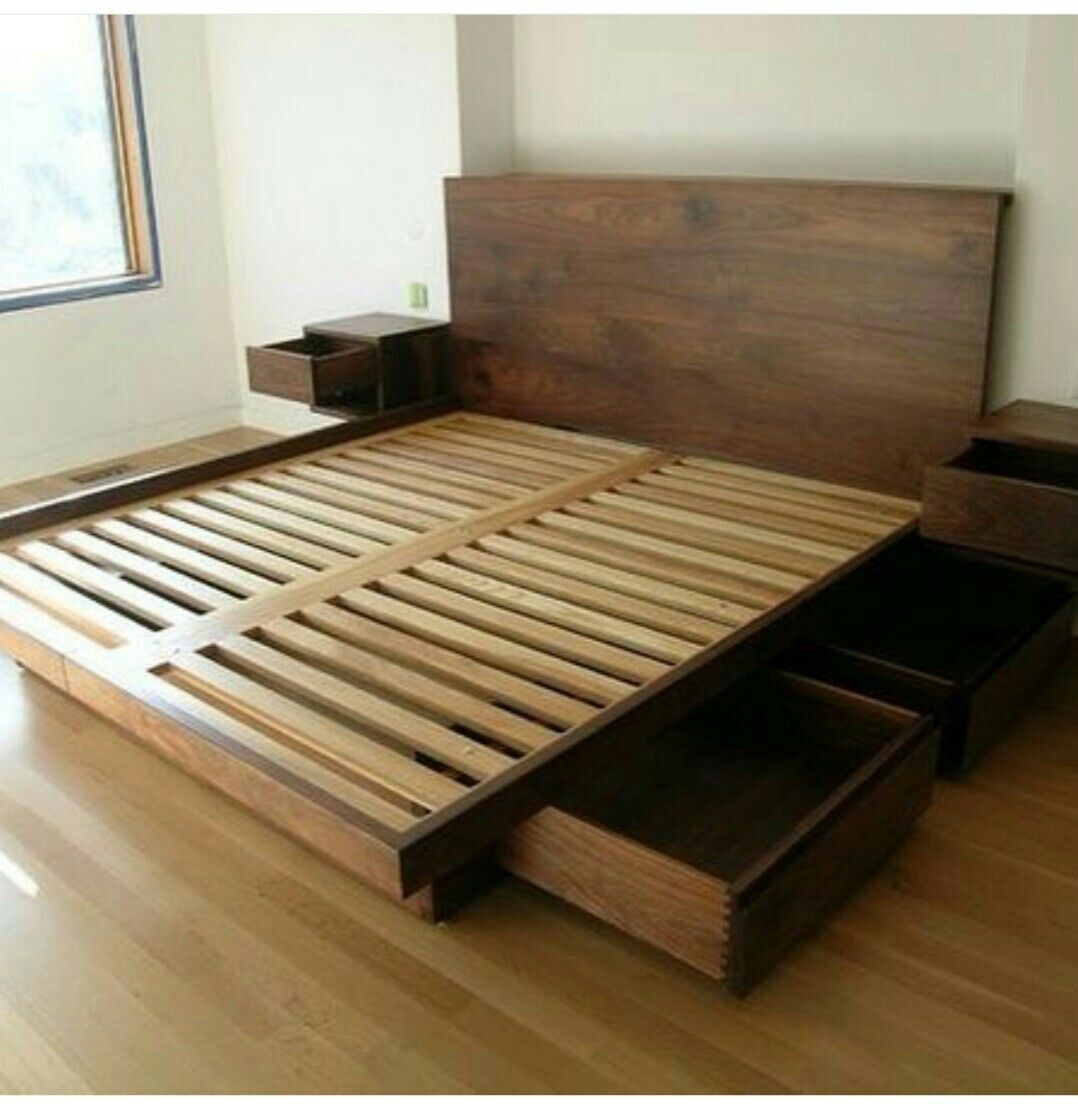 Cama Matrimonial Bed Frame With Drawers Bed Frame With Storage