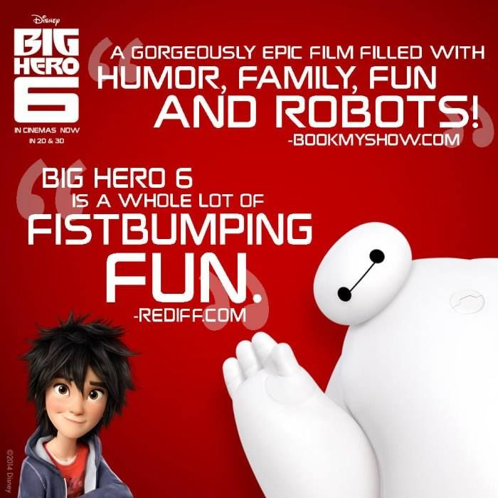 Here's what #Rediff and #BookMyShow had to say about #BigHero6! Have you watched the film yet?