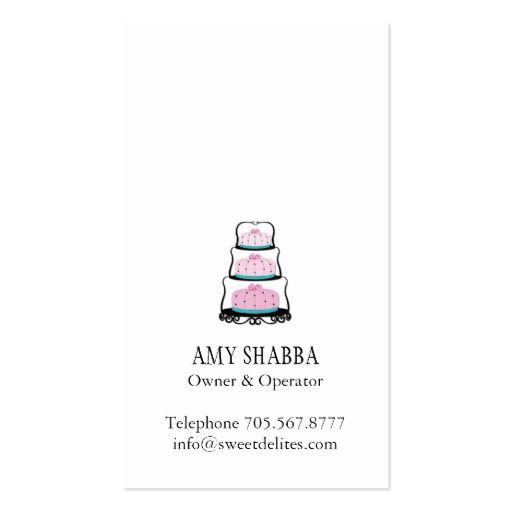 Carte De Visite Cake Designer Business Card Back Side Design Cards Visit