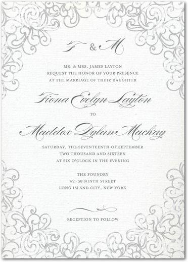 Dazzling Lace Wedding Invitation Weddings