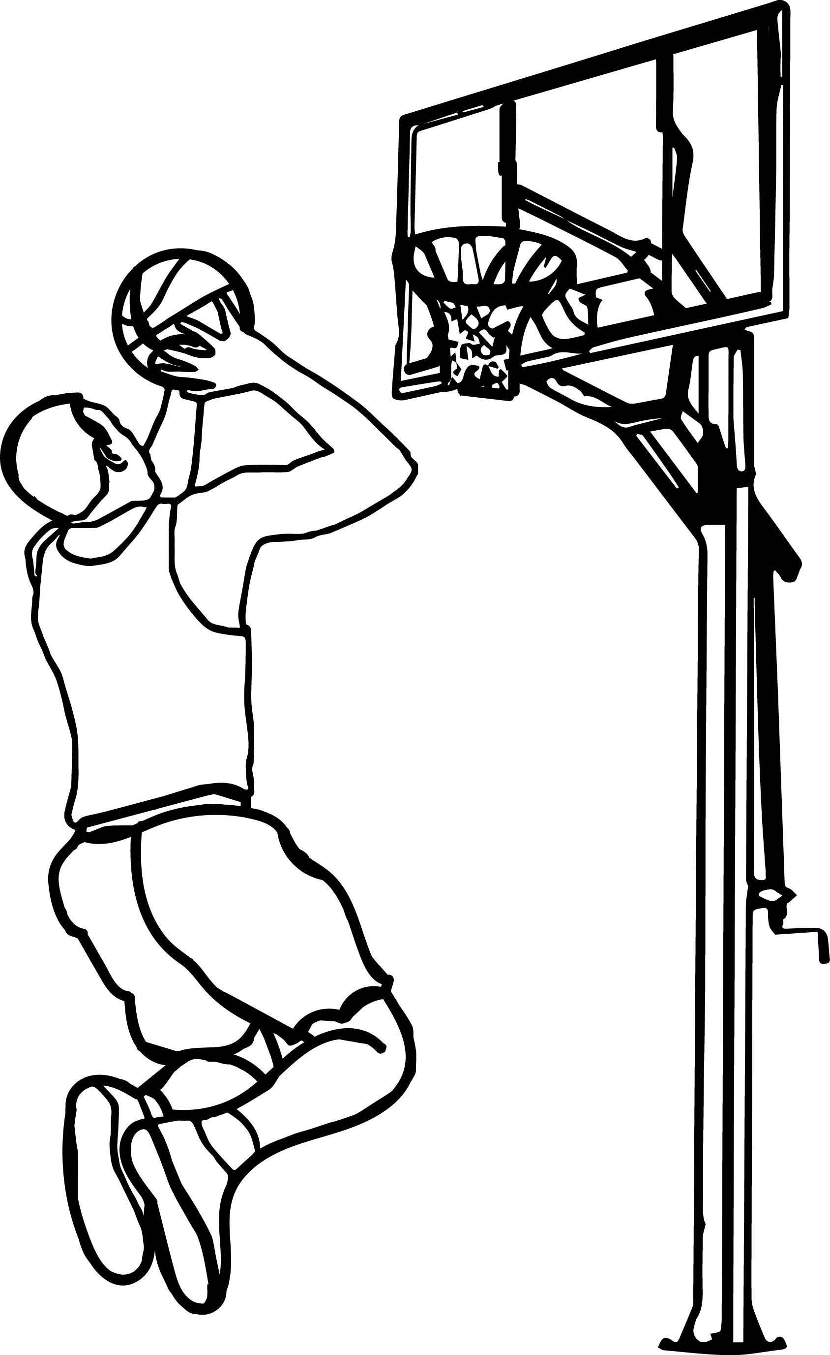 Nice The Basketball Clipart For My Friend Thatrsquos You Playing Basketball Coloring Page Desenhos Esportes