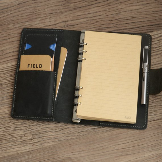 Personalized Size A5 Leather Refillable Planner Binder