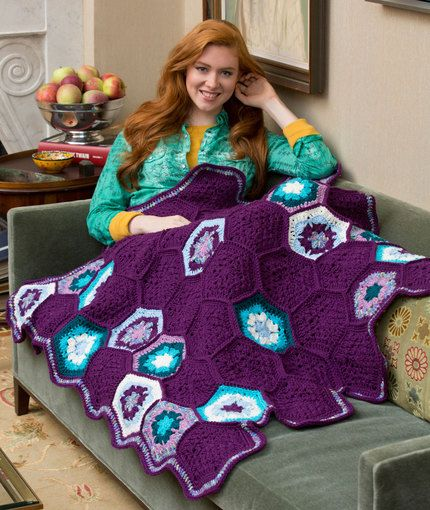 Splendor Throw Free Crochet Pattern From Red Heart Yarns