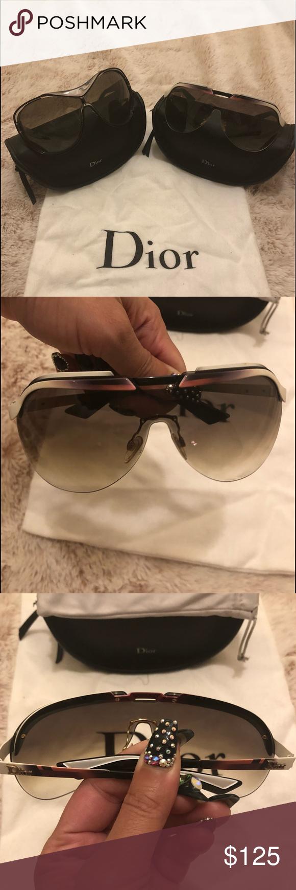 0a7d301e2f Christian Dior Solar Shield Sunglasses Diorsolar Christian Dior Solar  Burgundy White Gradient Metal Shield Sunglasses Diorsolar
