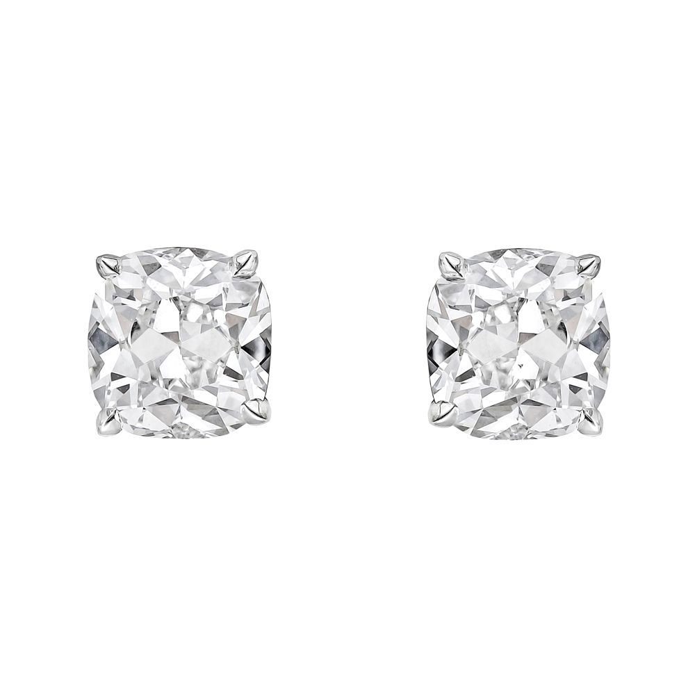 Betteridge Cushion Cut Diamond Stud Earrings 6 Ct Tw