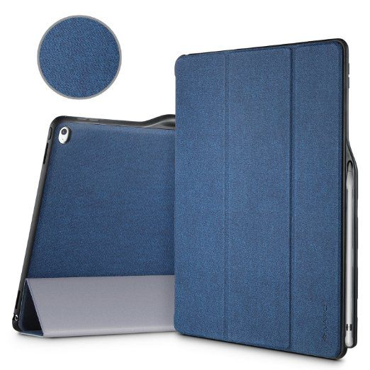 Ipad Pro 12.9 Case With Pencil Holder Ipad Pro 129 Protector Cover Ivapo Pencil Holder Pu Amazoncouk