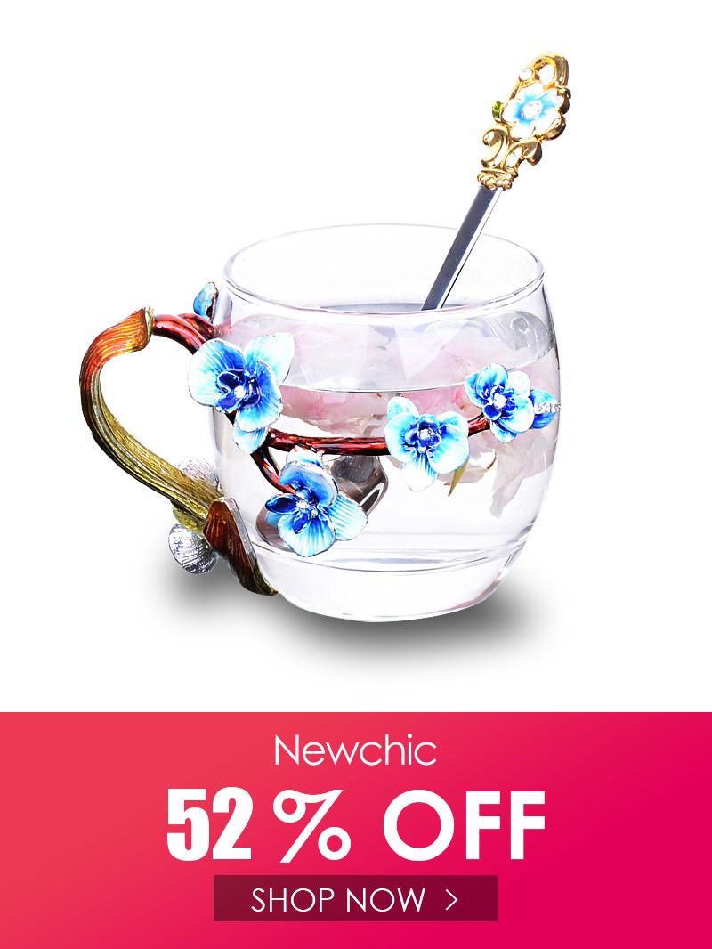 Enamel Glass Orchid Flower Tea Cup Coffee Cup Beer Mug Christmas