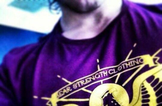 Via Twitter: Bear Strength T-shirt, Sam sports them all the time.