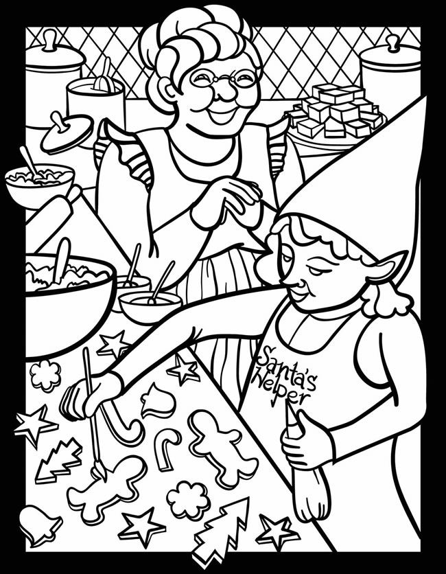 Santa's Busy Workshop Stained Glass Jr. Coloring Book ...