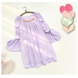 Long-Sleeve Pleated Dress from #YesStyle <3 11.STREET YesStyle.com