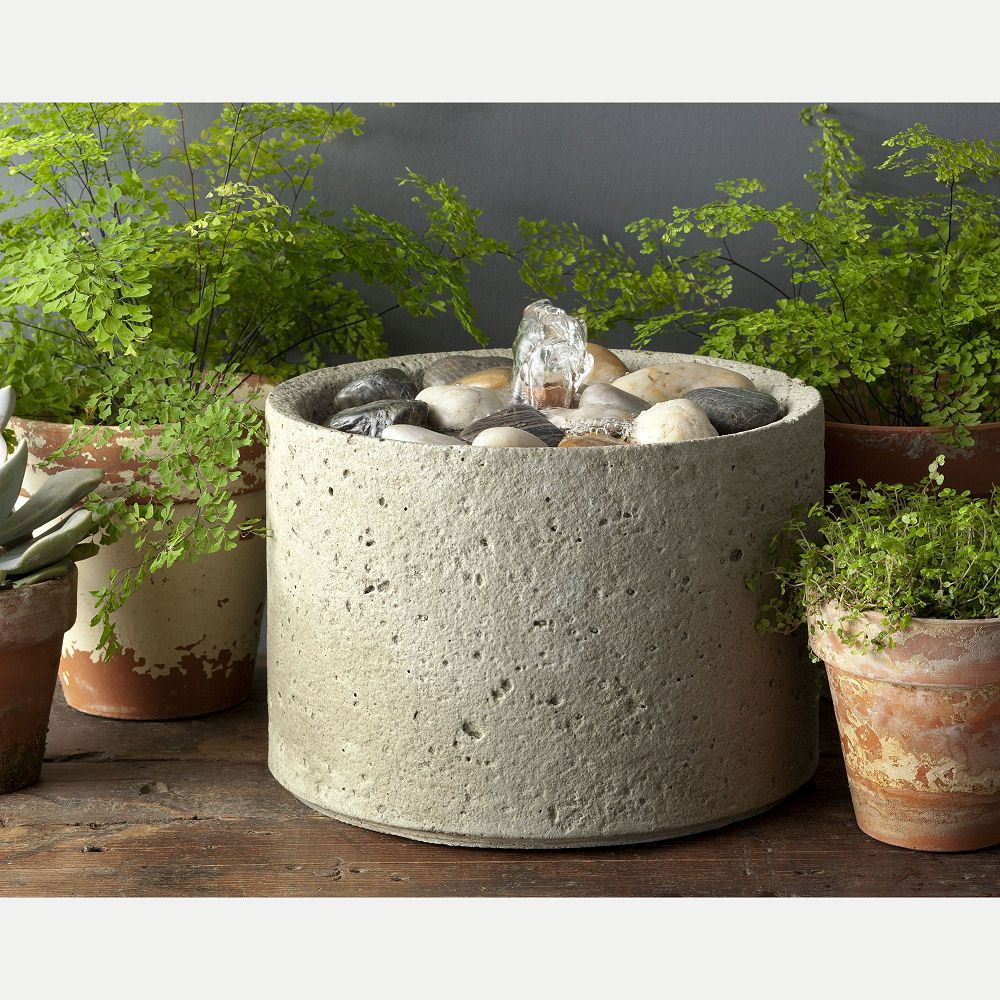 Feng shui pebble tabletop water fountain indoor outdoor kinsey garden decor also cast stone rh pinterest