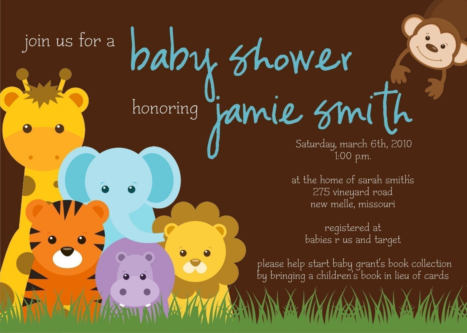 cool How to Create Jungle Baby Shower Invitations Free Check more at ...