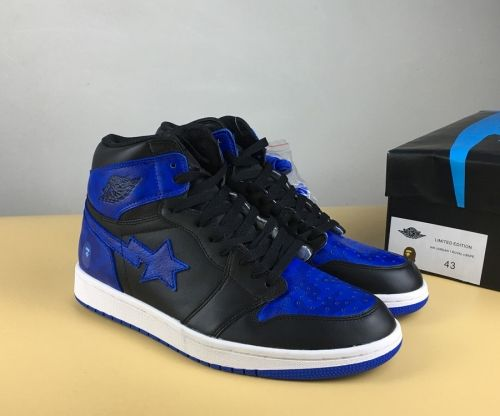 new product dbec9 15fcc Discount BAPE x Air Jordan 1 Royal Custom - Mysecretshoes