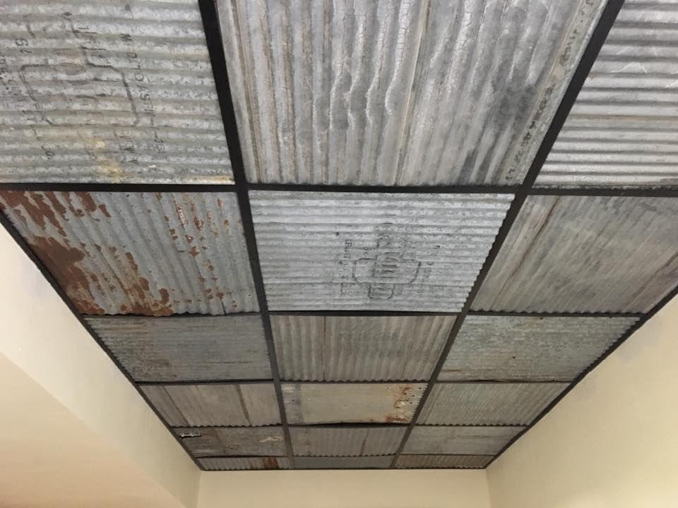 Dakota Tin Corrugated Tin Ceiling Tiles Installed Into An Artistic