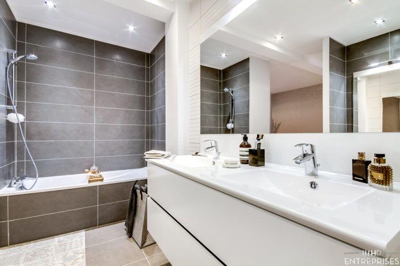 Exemple d'agencement pour les salles de bain d'un promotion immobilière.