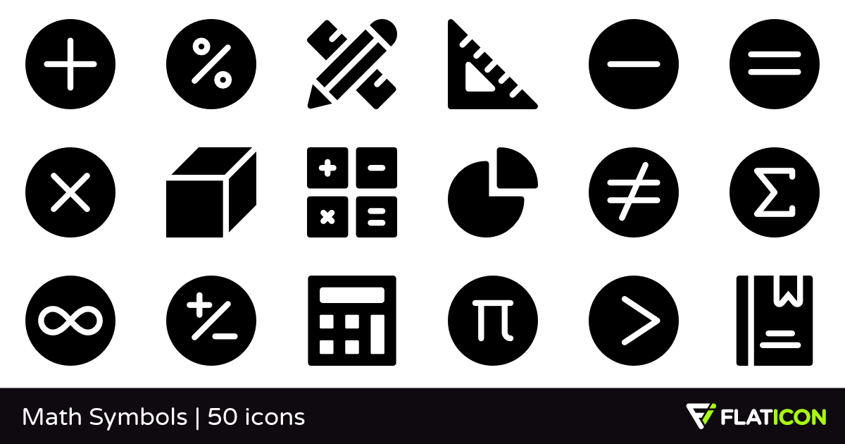 50 Free Vector Icons Of Math Symbols Designed By Freepik Symbol Design Math Symbols